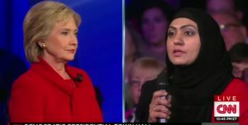 Go Figure:  Muslim Veteran At Dem Town Hall Thanked For Her Service