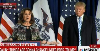 Palin Claims Trump's 'Not An Elitist' During Rambling Endorsement Speech