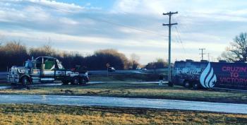 Ted Cruz Stuck In The Mud In Iowa