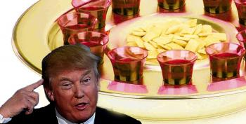Doh!  Trump Puts Money In The 'Bread And Wine' Plate At Iowa Church