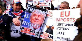 British Neo-Nazis Carry 'Trump Is Right' Signs