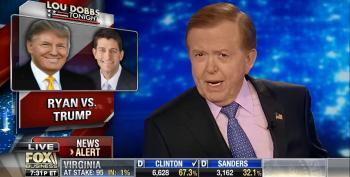 Fox's Lou Dobbs Attacks 'Sop' Paul Ryan For Condemning Trump's Refusal To Disavow David Duke And The KKK