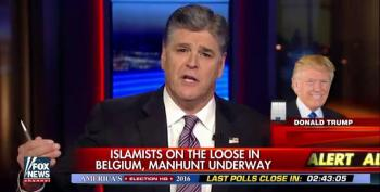 Trump And Hannity Salivate To Put Terror Suspects 'Through The Wringer' In Wake Of Brussels Attacks