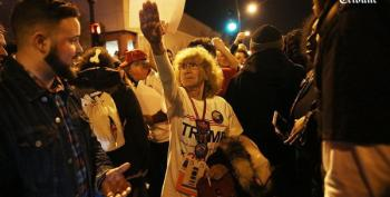 'Heil Lady' Insists On Nazi Salute At Trump Rally Protest