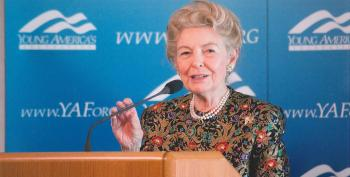 Phyllis Schafly Says Trump Smells Like Ronald Reagan