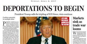 Boston Globe Runs Satirical Front Page Showing What Life Would Be Like Under President Trump