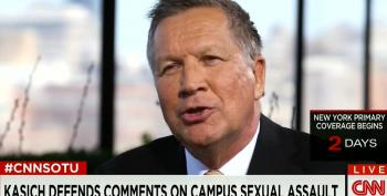 John Kasich Doesn't Understand Why Anyone Would Think He Was Blaming Victims For Sexual Assault