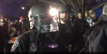 Riot Police Intervene Between Trump Supporters And Protesters In New York
