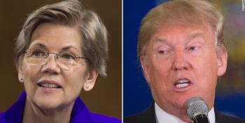 Trump Begs Elizabeth Warren To Kick His Butt On Twitter Again