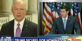 Jeff Sessions Gives Paul Ryan The Stinkeye For Not Endorsing Trump