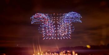 Watch: 100 Synchronized Drones Put On A Light Show