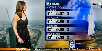 'We're Getting A Lot Of Emails': Male KTLA Anchor Forces Weather Reporter To Cover Her Dress