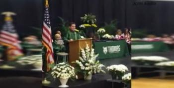 Hilarious Candidate Impersonations At Graduation: 8th Grader