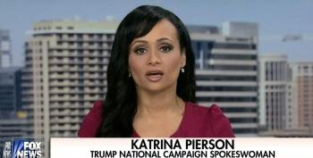 Katrina Pierson Whines That The Media Is Treating Her Boss Unfairly