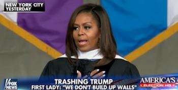 Fox Distorts Michelle Obama's Commencement Address To Portray Her As Some Kind Of Whitey Hater