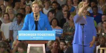 Elizabeth Warren And Hillary Clinton Rain Fire On Donald Trump (Update 2)