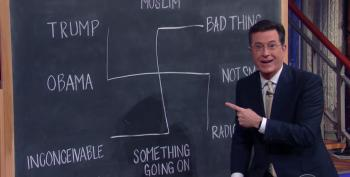 Stephen Colbert's Diagram Explains Trump's Response To Orlando