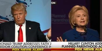 Watch The Difference In How Fox News Covered Clinton's Speech Vs. Trump's