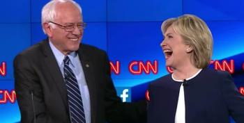 Hillary Clinton And Bernie Sanders Campaign Together In New Hampshire