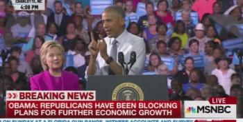 Pres. Obama Burns GOP With Trump While Stumping With Clinton