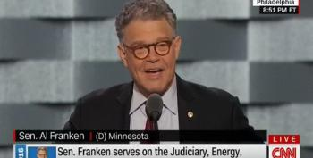 Senator Al Franken Shows His Funny Side During DNC Speech