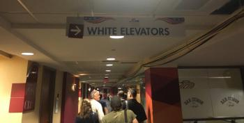 Organizers Scrambling To Replace 'White Elevator' Signs At Republican National Convention