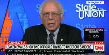Bernie Sanders: DNC Emails Should Cost Wasserman-Schultz Her Job