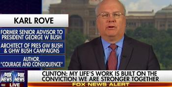 Rove Whines That Clinton Was Being 'Partisan And Vicious' To Donald Trump