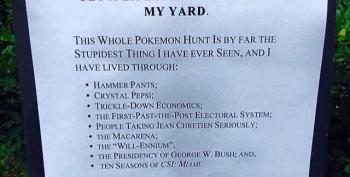Open Thread - Wow, Someone Doesn't Like Pokemon