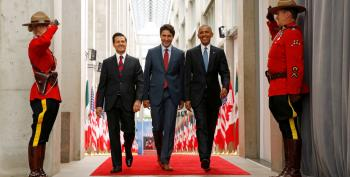 Facebook Review Of North American Leaders Photo?  Viral