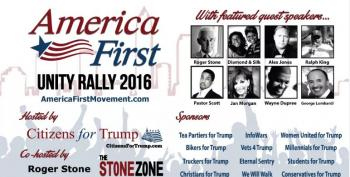 Oh Look, White Nationalists Co-Sponsor A Trump Rally