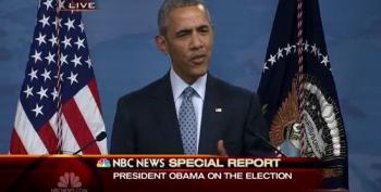 President Obama Mocks Trump's Vote Rigging Claims, Drops Mic