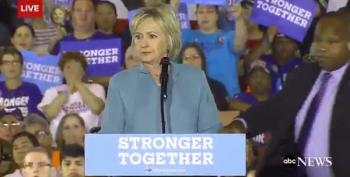 Hillary Clinton Surrounded By Secret Service At Las Vegas Rally -- Watch What Happens Next!