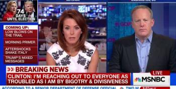 GOP's Sean Spicer Can't Say Clinton Is A Bigot