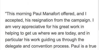 BREAKING:  Manafort Resigns From Trump Campaign UPDATE 1, 2