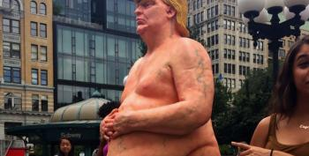 Nude Donald Trump Statue Miraculously Appears In NYC