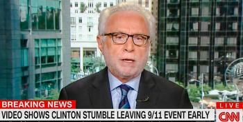 Wolf Blitzer Replays Clinton 'Stumbling' Clip Over And Over In A Continuous Loop
