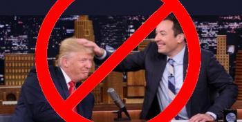 Shameful:  Jimmy Fallon Tousles Trump's Hair Like He's Grandpa