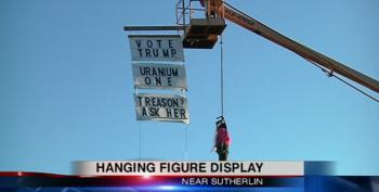 Deplorable Oregon Man Hangs Hillary Clinton In Effigy To Support Trump