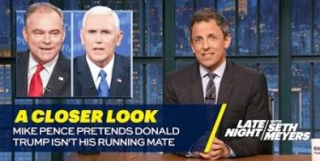 Seth Meyers Slams Pence's Denial Of Trump's Lies
