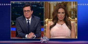Stephen Colbert Interviews Laura Benanti As A Perfect 'Melania Trump'