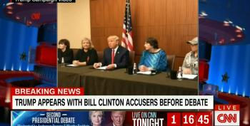 Trump Loses His Mind, Holds Presser With Clinton Accusers Ahead Of St. Louis Debate
