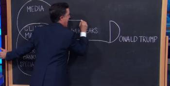 Colbert Explains Every Anti-Trump Conspiracy In One Diagram