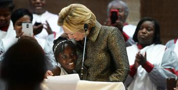 Meanwhile, Hillary Clinton Goes To Church And Calls For Racial Justice