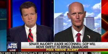 Trumpster Rick Scott Can't Explain How He'd Replace ObamaCare For The 20 Million Whose Health Insurance He Wants To Destroy
