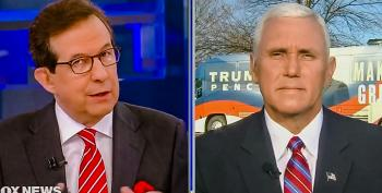Watch: Chris Wallace Throws 'Drain The Swamp' Meme In Pence's Face For Backing Christie