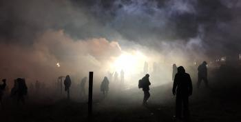 Police Fire Water Cannons At Pipeline Protestors In Sub Freezing Weather