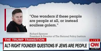 Neo-Nazi Richard Spencer: 'Are They People At All, Or Instead Soulless Golem?'