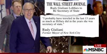 Rudy Giuliani Gets Mocked For Idiotic Self Promotion To Be Secretary Of State