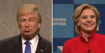 Even SNL's Donald Trump And Hillary Clinton Are Sick Of This Election